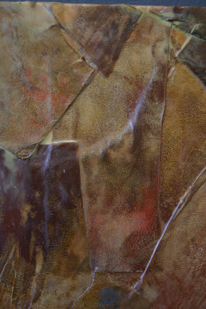 Tan encaustic leather